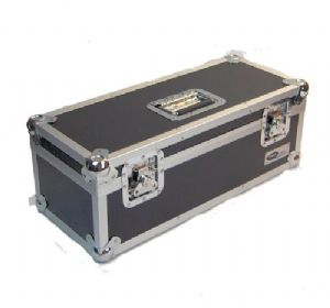"Black Aluminium 7"" Vinyl Single Case Square Design - Upto 300 Capacity"